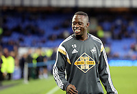 Liverpool, UK. Saturday 01 November 2014<br /> Pictured: Modou Barrow of Swansea<br /> Re: Premier League Everton v Swansea City FC at Goodison Park, Liverpool, Merseyside, UK.