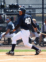March 31, 2010:  Outfielder Zoilo Almonte (40) of the New York Yankees organization during Spring Training at Yankees Training Complex in Tampa, FL.  Photo By Mike Janes/Four Seam Images