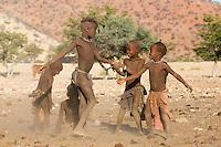Himba Children playing in remote Kaokoland, Namibia