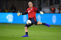 WASHINGTON, D.C. - OCTOBER 11: Brad Guzan #1 of the United States warms up prior to their Nations League match versus Cuba at Audi Field, on October 11, 2019 in Washington D.C.