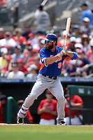 New York Mets outfielder Kirk Nieuwenhuis (9) during a Spring Training game against the St. Louis Cardinals on April 2, 2015 at Roger Dean Stadium in Jupiter, Florida.  The game ended in a 0-0 tie.  (Mike Janes/Four Seam Images)