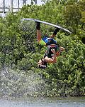September 13, 2014:  Scenes from the WWA Wakeboard World Championships at Mills Pond Park in Fort Lauderdale, FL.  Men's  Professional Wakeboarder Massi Piffaretti ITA places 5th. Liz Lamont/ESW/CSM