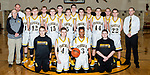 December 16, 2017- Tuscola, IL- The 2017-2018 Tuscola Warrior Basketball Junior Varsity team. Standing alternating from left are coach Bob Taylor, coach Jacob Hilgendorf, Eric Brewer, Haden Cothron, Cade Kresin, Cameron Homann, Ben Dixon, Nick Williams, Ryan Bartley, Colin Lewis, Noah Woods, Logan Tabeling, Max Wyninger, Nicholas Woods, and coach Justin Bozarth. Kneeling from left are manager Dillan Alcorn, Jake Reed, Silas Hortin, and manager Alex Vincent. [Photo: Douglas Cottle]