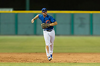 AZL Cubs 1 third baseman Luke Reynolds (16) throws to first base during an Arizona League game against the AZL Padres 1 at Sloan Park on July 5, 2018 in Mesa, Arizona. The AZL Cubs 1 defeated the AZL Padres 1 3-1. (Zachary Lucy/Four Seam Images)