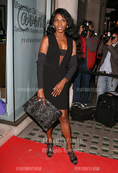 Sinitta arriving for the Macmillan De'Longhi Art Auction 2009, held at The Avenue, London. 29/09/2009.  Picture By: Alexandra Glen / Featureflash..