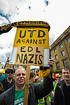 © Joel Goodman - 07973 332324 . 09/07/2011 . Cambridge , UK . An anti-fascist counter demonstration as the English Defence League hold a march and demonstration in Cambridge . Photo credit : Joel Goodman