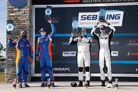 #61: Conquest Racing Norma M30, P3-2: Danny Kok, George Staikos, #50: One Motorsports Ligier JS P3, P3-2: Bob Iversen, Terry Olson, podium