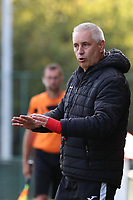 Aalst's head coach Dirk Decoen pictured during a female soccer game between Oud Heverlee Leuven and Eendracht Aalst Ladies  on the third matchday of the 2020 - 2021 season of Belgian Womens Super League , Sunday 4 th of October 2020  in Heverlee , Belgium . PHOTO SPORTPIX.BE | SPP | SEVIL OKTEM