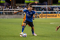 SAN JOSE, CA - JULY 24: Eric Remedi #5 of the San Jose Earthquakes dribbles the ball during a game between San Jose Earthquakes and Houston Dynamo at PayPal Park on July 24, 2021 in San Jose, California.