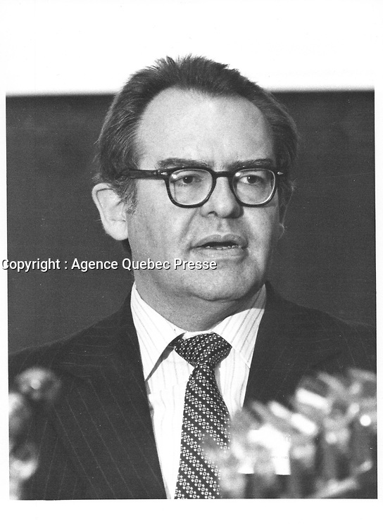 Herb Grey,, Ministre de l'Industrie et du Commerce du Canada, <br /> 3 Juin 1980 <br /> <br /> PHOTO :   agence Quebec Pressel