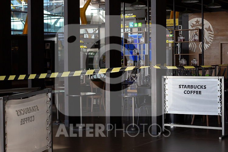Adolfo Suarez Madrid Barajas empty during the new confinement measures on October 05 in Madrid, Spain.(ALTERPHOTOS/ItahisaHernandez)