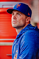 21 September 2018: New York Mets third baseman David Wright sits in the dugout during a game against the Washington Nationals at Nationals Park in Washington, DC. The Mets defeated the Nationals 4-2 in the second game of their 4-game series. Mandatory Credit: Ed Wolfstein Photo *** RAW (NEF) Image File Available ***