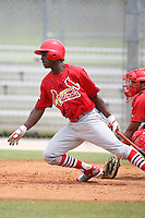 April 14, 2009:  D'Marcus Ingram of the St. Louis Cardinals extended spring training team during a game at Roger Dean Stadium Training Complex in Jupiter, FL.  Photo by:  Mike Janes/Four Seam Images