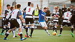 Lee Wallace spots a gap in the defence