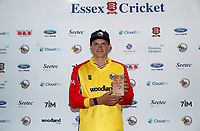 Michael Pepper of Essex collects his Man of the match award during Essex Eagles vs Sussex Sharks, Vitality Blast T20 Cricket at The Cloudfm County Ground on 15th June 2021