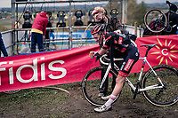 U23 World Champion Ryan Kamp (NED/Pauwels Sauzen-Bingoal) post finish.<br /> <br /> Koppenbergcross 2020 (BEL)<br /> men's race<br /> <br /> ©kramon