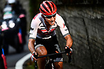 Bauke Mollema (NED) Trek-Segafredo out front in the lead during the 113th edition of Il Lombardia 2019 running 243km from Bergamo to Como, Italy. 12th Octobre 2019. <br /> Picture: Fabio Ferrari/LaPresse | Cyclefile<br /> <br /> All photos usage must carry mandatory copyright credit (© Cyclefile | LaPresse/Fabio Ferrari)