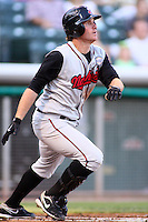 August 10, 2009: Mat Gamel of the Nashville Sounds, Pacific Cost League Triple A affiliate of the Milwaukee Brewers, during a game at the Spring Mobile Ballpark in Salt Lake City, UT.  Photo by:  Matthew Sauk/Four Seam Images