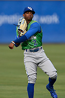 Right fielder Rudy Martin (2) of the Lexington Legends warms up before a game against the Greenville Drive on Friday, June 30, 2017, at Fluor Field at the West End in Greenville, South Carolina. Lexington won, 17-7. (Tom Priddy/Four Seam Images)
