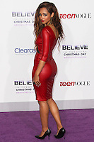 """LOS ANGELES, CA - DECEMBER 18: Singer Jessica Jarrell arrives at the World Premiere Of Open Road Films' """"Justin Bieber's Believe"""" held at Regal Cinemas L.A. Live on December 18, 2013 in Los Angeles, California. (Photo by Xavier Collin/Celebrity Monitor)"""