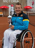 August 6, 2014, Netherlands, Rotterdam, TV Victoria, Tennis, National Junior Championships, NJK,  Wheelchair, 3rd place Mitchel Graauw <br /> Photo: Tennisimages/Henk Koster