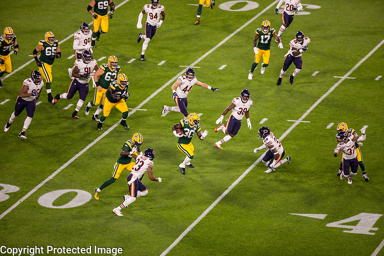 Green Bay Packers against the Chicago Bears during a regular season game at Lambeau Field in Green Bay on Sunday, September 9, 2018.
