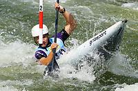 4th September 2021; Parc Olimpic del Segre, La Seu D'Urgell ICF Slalom World Cup, men's Kayak Final;  Niko Testen (SLO)