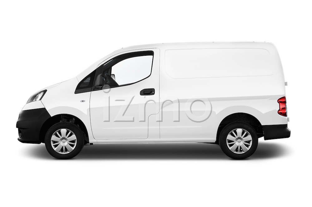 Car driver side profile view of a 2015 Nissan NV200 Visia 5 Door Cargo Van