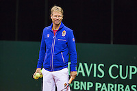 September 09, 2014,Netherlands, Amsterdam, Ziggo Dome, Davis Cup Netherlands-Croatia, Training Dutch Team, Captain Jan Siemerink<br /> Photo: Tennisimages/Henk Koster
