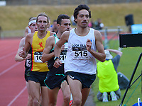 Alex Beddoes leads the Men's elite 1500m. 2021 Capital Classic athletics at Newtown Park in Wellington, New Zealand on Saturday, 20 February 2021. Photo: Dave Lintott / lintottphoto.co.nz