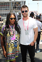 SERENA WILLIAMS, CHRIS HEMSWORTH - LES PEOPLE ASSISTENT AU GRAND PRIX DE FORMULE 1 DE MONACO, LE 28 MAI 2017, MONTE - CARLO