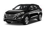 2018 Hyundai Tucson Limited 5 Door Suv Angular Front stock photos of front three quarter view