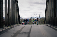 bridge crossing<br /> <br /> 51th Le Samyn 2019 <br /> Quaregnon to Dour (BEL): 200km<br /> <br /> ©kramon