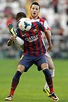 Rayo Vallecano's Tito and FC Barcelona's Neymar Santos Jr (f) during La Liga match.September 21,2013. (ALTERPHOTOS/Acero)