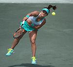 Lauren Davis (USA) loses to Madison Keys (USA) 6-2, 6-2 at the Family Circle Cup in Charleston, South Carolina on April 10, 2015.