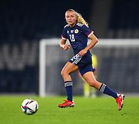 21st September 2021; Hampden Park, Glasgow, Scotland: FIFA Womens World Cup qualifying, Scotland versus Faroe Islands; Claire Emslie of Scotland on the ball