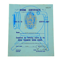 BNPS.co.uk (01202) 558833. <br /> Pic: Fellows/BNPS<br /> <br /> Pictured: Corporal Peter Melhuish's 1978 dive certificate. <br /> <br /> A former British Army diver is selling the wristwatch he wore during the raising of the Mary Rose for £26,000.<br /> <br /> Corporal Peter Melhuish, of the Royal Engineers, had the Rolex Submariner 5513 on when Henry VIII's famous warship was lifted from The Solent in 1982.<br /> <br /> He also wore the diver's wristwatch during operations off the Falkland Islands after Britain and Argentina went to war that year.<br /> <br /> Peter, from Tunbridge Wells, Kent, has owned the timepiece since 1979 and put it on regularly up until five years ago. Since then, it has been kept in his sock drawer and he has now decided to sell it with Fellows Auctioneers, of Birmingham.