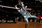 Tom Haugen competes in the BMX Freestyle Vert finals during X-Games 12 in Los Angeles, California on August 4, 2006.