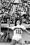 Javelin throw The 1976 Summer Olympics Games of the XXI Olympiad international multi-sport event celebrated in Montreal Quebec Canada the event was opened by Queen Elizabeth II as head of state of Canada and several members of the Royal Family,