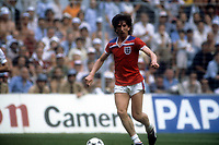 16th June 1982: World Cup match England versus France in Bilbao Paul Mariner England at Ball ; Mariner died on 9th July from a brain cancer at age 68
