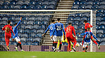 26.11 2020 Rangers v Benfica: James Tavernier appeals before the first Benfica goal goes in off his chest