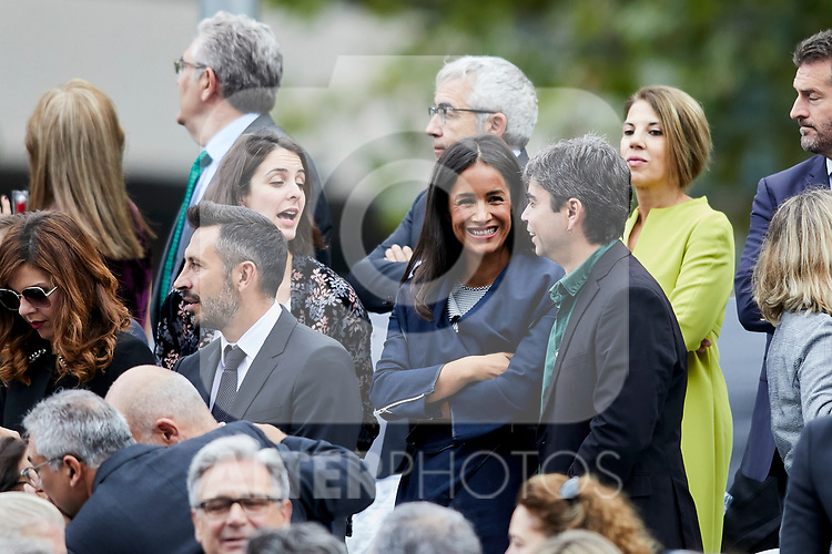 Begona Villacis attends to Spanish National Day military parade in Madrid, Spain. October 12, 2018. (ALTERPHOTOS/A. Perez Meca)