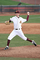 Kyle Ottoson #36 of the Arizona State Sun Devils pitches against the University of New Mexico Lobos in game two of the 2011 season opening series on February 20, 2011 at Packard Stadium, Arizona State University, in Tempe, Arizona..Photo by:  Bill Mitchell/Four Seam Images.
