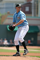 June 24, 2009:  Starting Pitcher Pat Stanley of the Erie Seawolves delivers a pitch during a game at Jerry Uht Park in Erie, PA.  The Erie Seawolves are the Eastern League Double-A affiliate of the Detroit Tigers.  Photo by:  Mike Janes/Four Seam Images