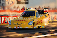 Sept. 2, 2011; Claremont, IN, USA: NHRA funny car driver Jeff Arend during qualifying for the US Nationals at Lucas Oil Raceway. Mandatory Credit: Mark J. Rebilas-