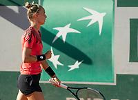 Paris, France, 31-05-2021, Tennis, French Open, Roland Garros, First round match:  Arantxa Rus  (NED)<br /> Photo: tennisimages.com