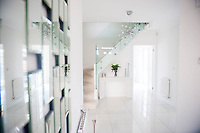 "COPY BY TOM BEDFORD<br /> Pictured: The hallway<br /> A home-loving mum is looking forward to a bright 2017 - everything she owns is white.  <br /> Claire Dix, 51, lives in white house where all the inside walls, floors and ceilings are white.<br /> Her furniture is white, her sheets and towels are white - even her Persian cat Mr Darcy is white.<br /> She drives a white Porsche sports car and the other family car is - you've guessed, it white.<br /> And to keep her home spotless she even has a white, limited-edition Dyson cleaner.<br /> Claire said: ""It's not an obsession, just a matter of style - I happen to like white."
