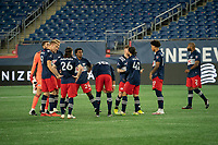 FOXBOROUGH, MA - OCTOBER 19: New England starting eleven during a game between Philadelphia Union and New England Revolution at Gillette on October 19, 2020 in Foxborough, Massachusetts.