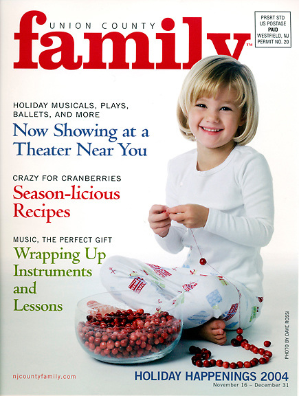 Cover Photograph for Union County Family Magazine for their holiday 2004 issue.