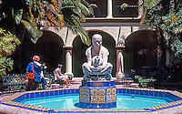 "San Diego: Balboa Park--Donal Hord Sculpture, Court of Foreign Arts Building. ""Woman of Tehuantepec."" Photo '80."